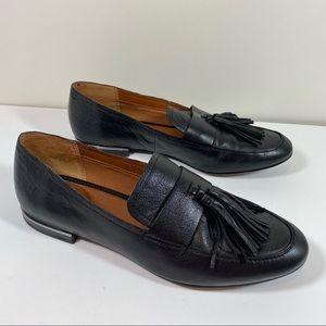 Franco Sarto Black leather Bismarck Tassel Loafer